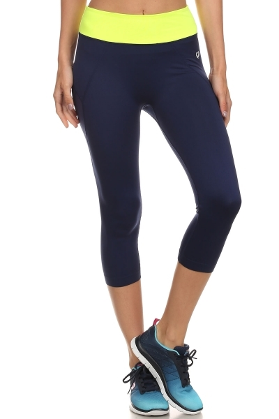 Navy Yoga Sport Leggings Capri - orangeshine.com