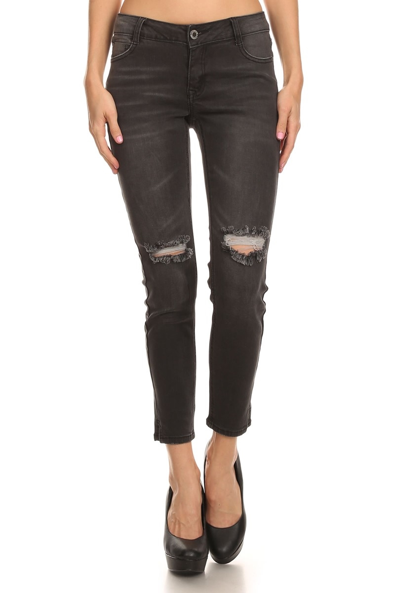DISTRESSED COTTON JEANS ACP739 - orangeshine.com