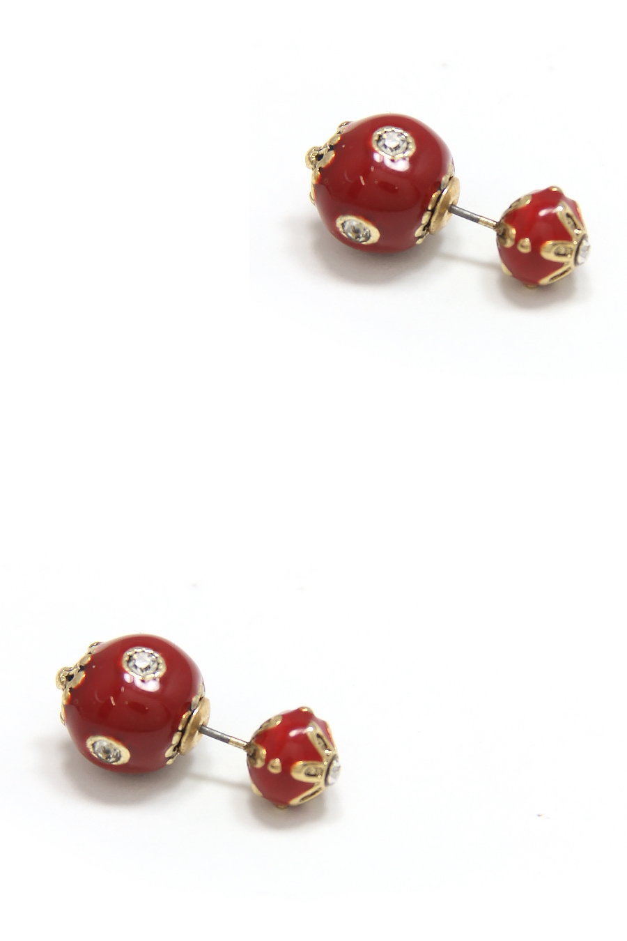 FLOWER CRYSTAL BALL EARRING - orangeshine.com