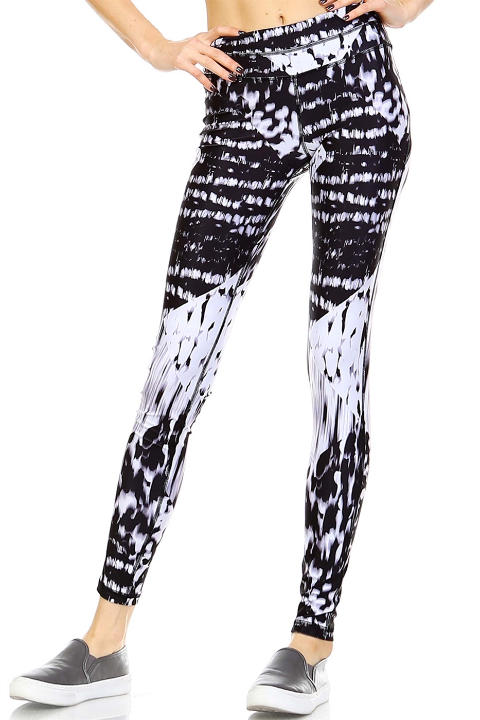 CONTRAST PANEL LEGGINGS - orangeshine.com