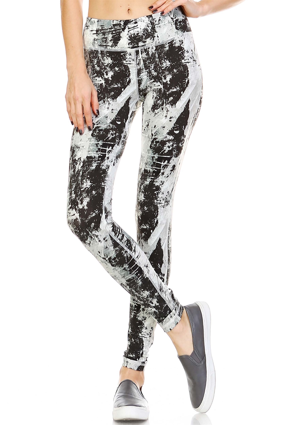 SPLATTER PRINT LEGGINGS - orangeshine.com