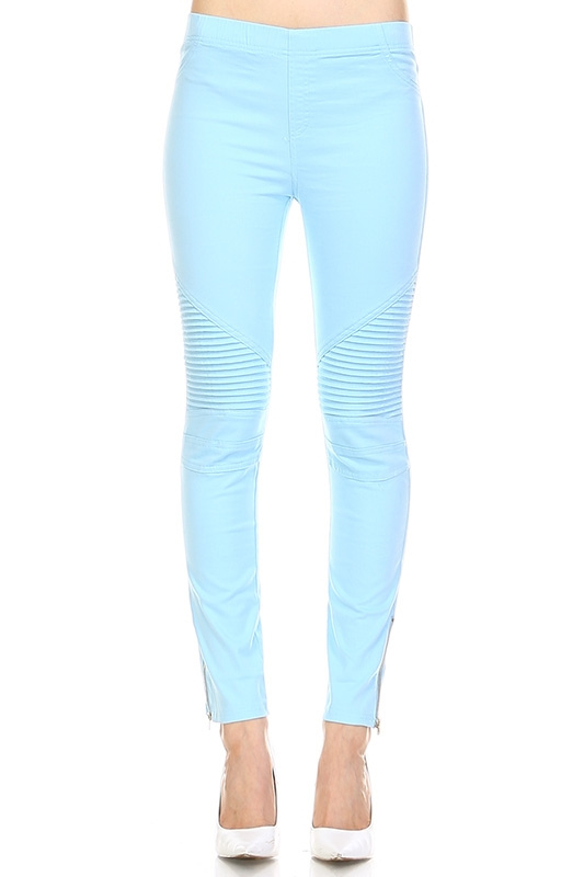 BLUE MOTO LEGGINGS - orangeshine.com