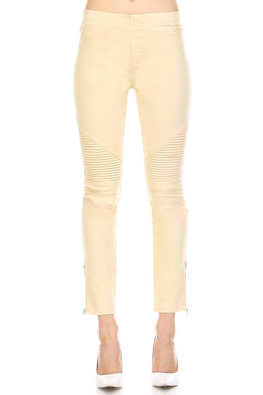 KHAKI MOTO LEGGINGS - orangeshine.com
