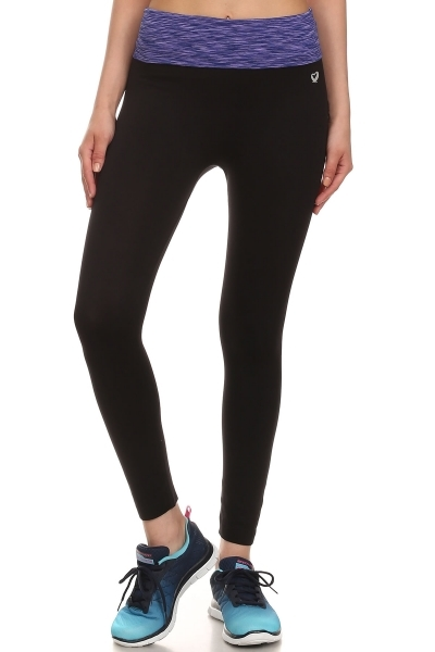 Foldover Waistband Leggings - orangeshine.com
