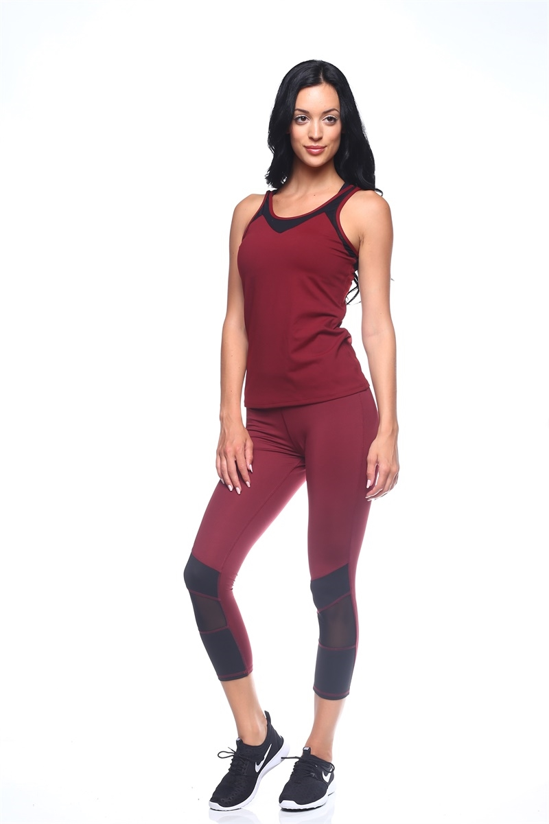 Yoga Contrast Color Legging - orangeshine.com