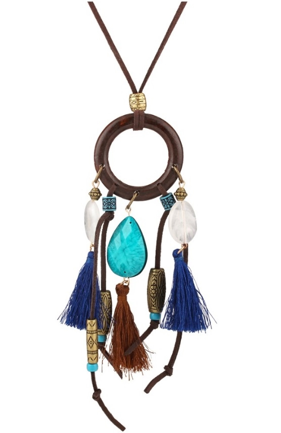 Tassel Leather Necklace - orangeshine.com