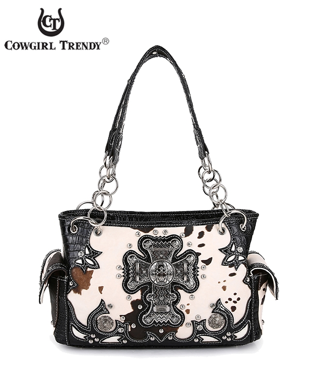 Cross with Cow Print Handbag - orangeshine.com