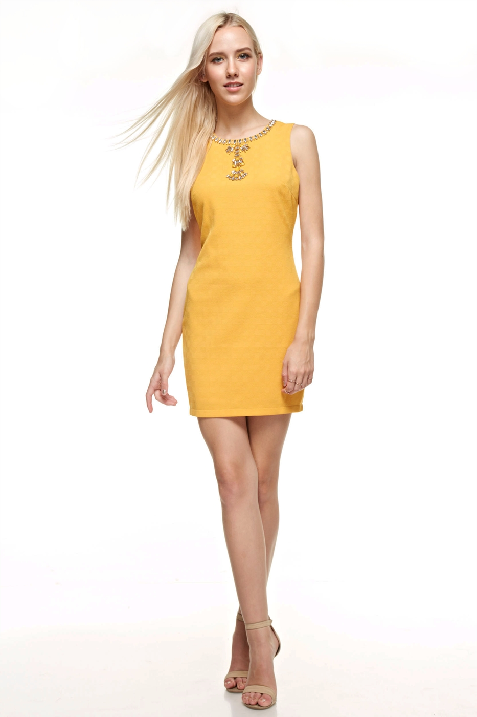 Embellished Mini Dress - orangeshine.com