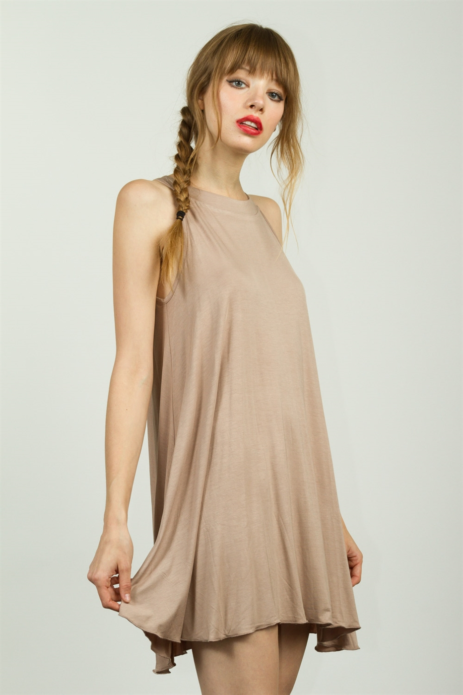 RIBBED KNIT DRESS - orangeshine.com