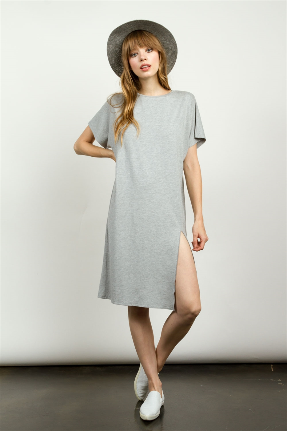 LOOSE FIT T-SHIRTS DRESS - orangeshine.com