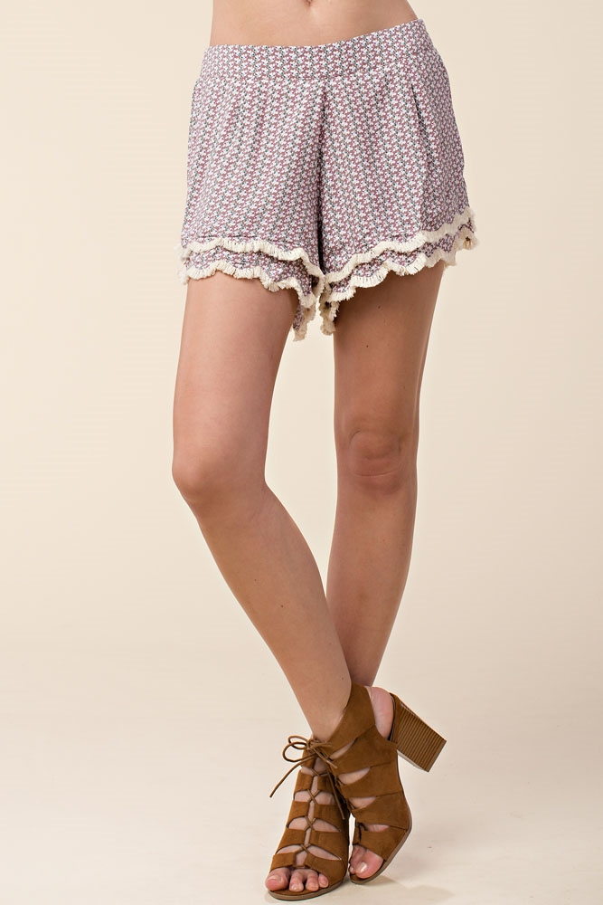 HIGH WAIST PEASANT SHORTS - orangeshine.com