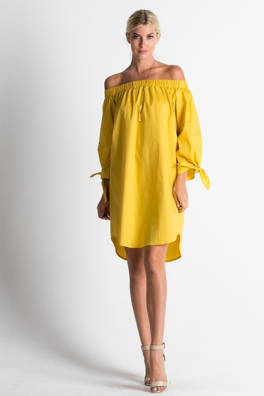 Cold shoulder long sleeve dres - orangeshine.com