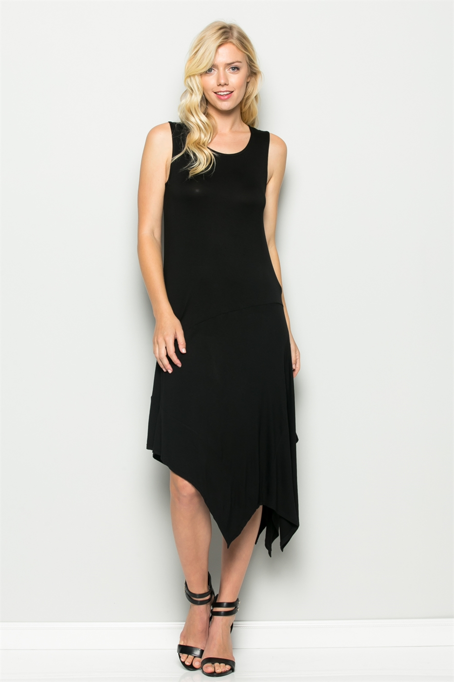 ASYMMETRICAL MAXI DRESS - orangeshine.com