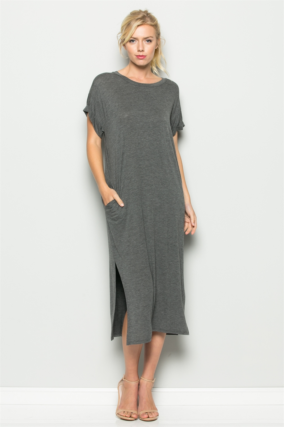 OVERSIZED MAXI POCKET DRESS - orangeshine.com