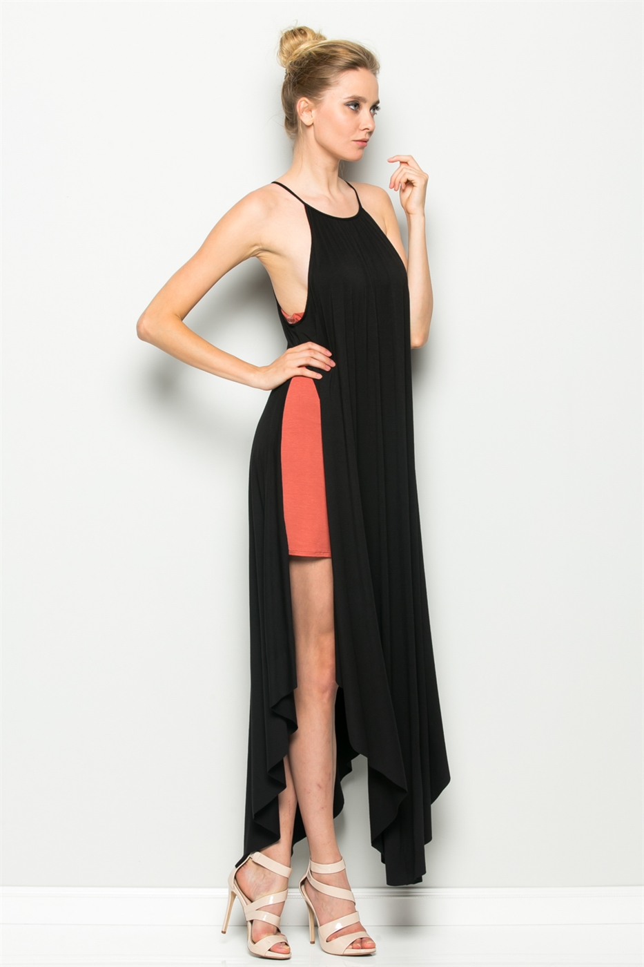 SIDE SLIT MAXI DRESS - orangeshine.com