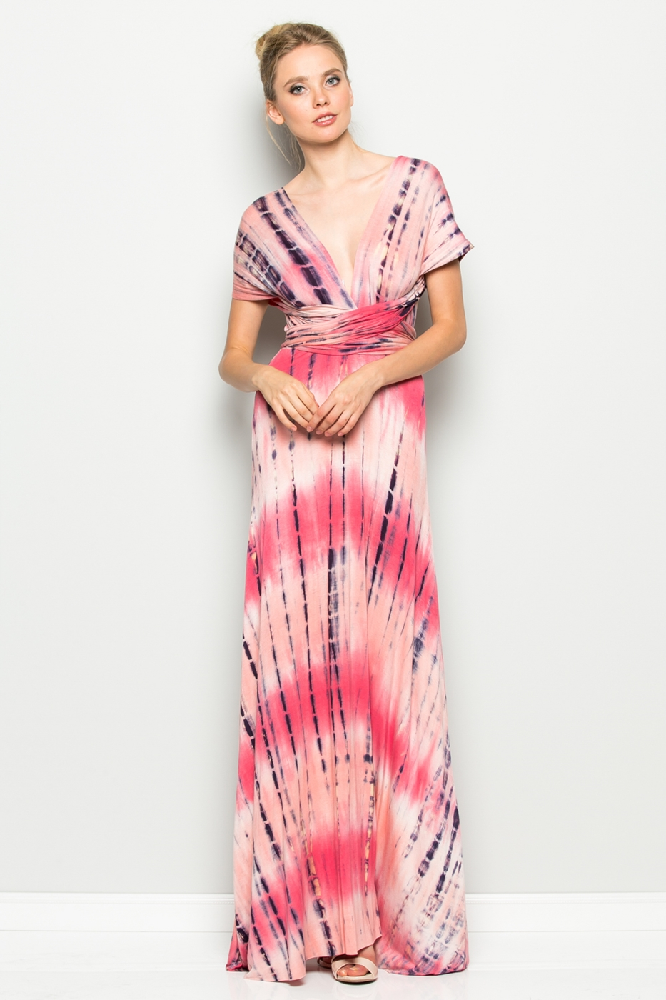 TIE-DYE CONVERTIBLE DRESS - orangeshine.com