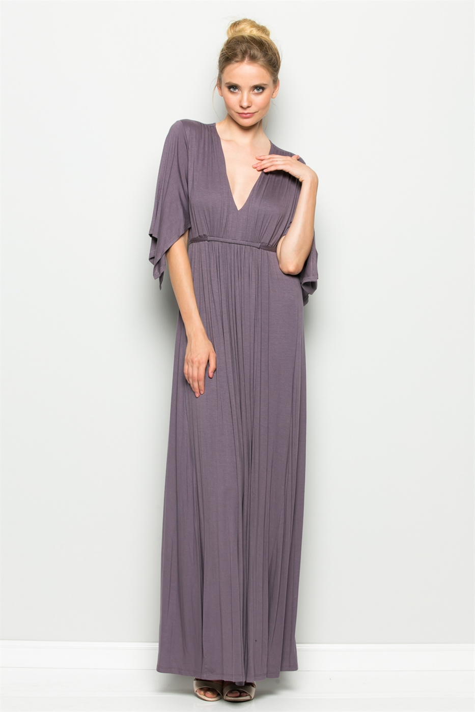 WAISTED MAXI DRESS - orangeshine.com