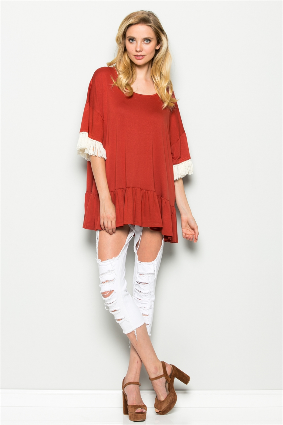 HEM BABYDOLL TUNIC TOP - orangeshine.com