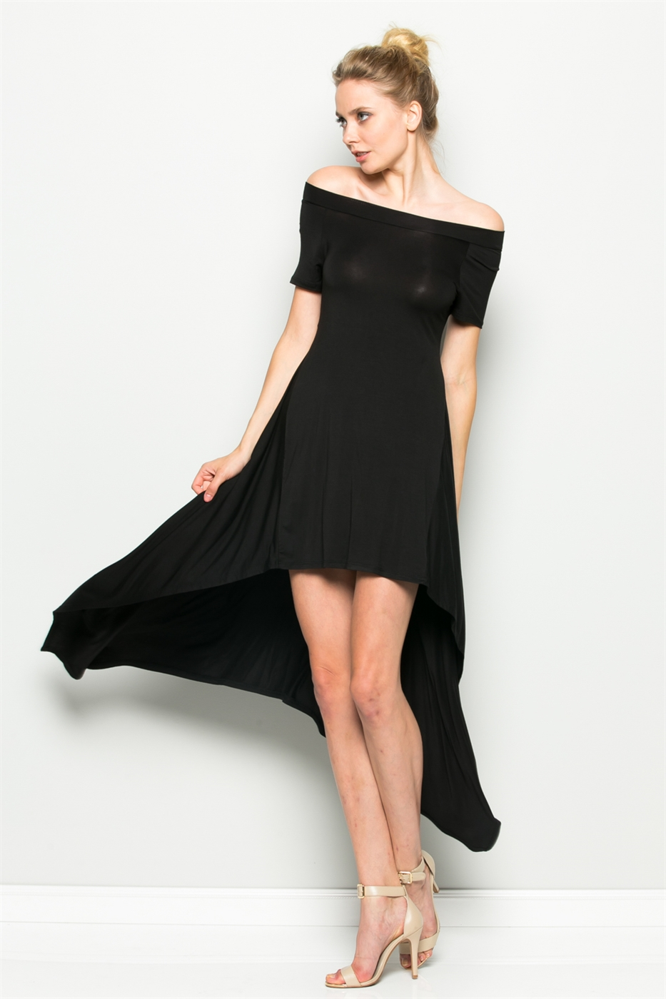 HI-LOW HANKY HEM DRESS - orangeshine.com