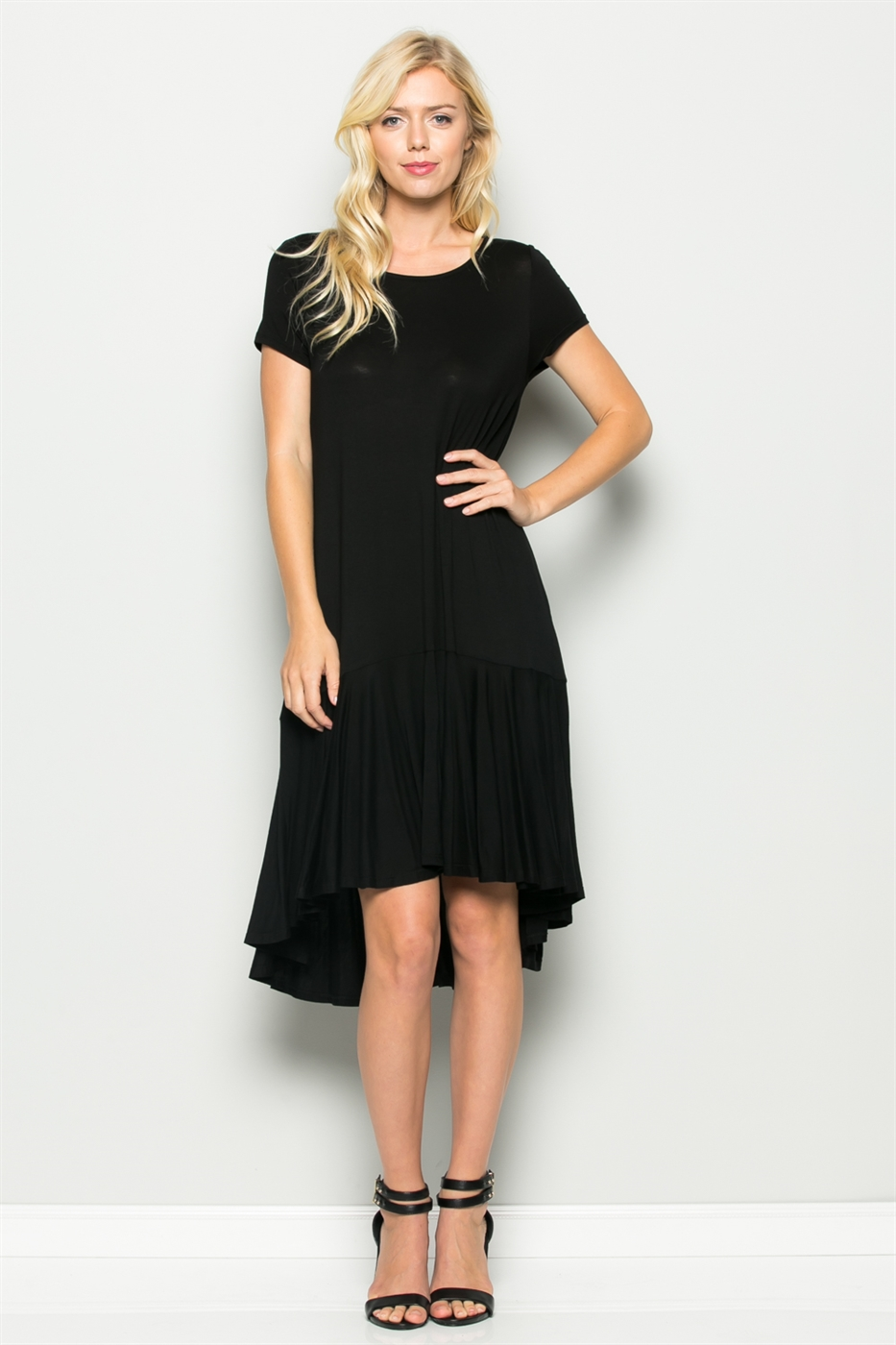 ROUND NECK CIRCLE DRESS - orangeshine.com