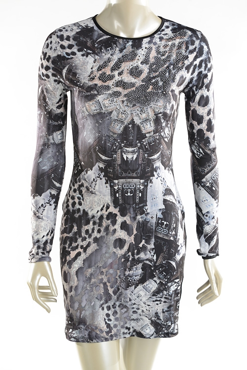 L/S GRAPHIC PRINT DRESS - orangeshine.com