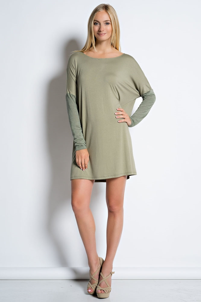 CASUAL KNIT DRESS - orangeshine.com