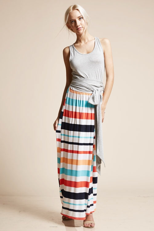 maxi dress with solid tank - orangeshine.com