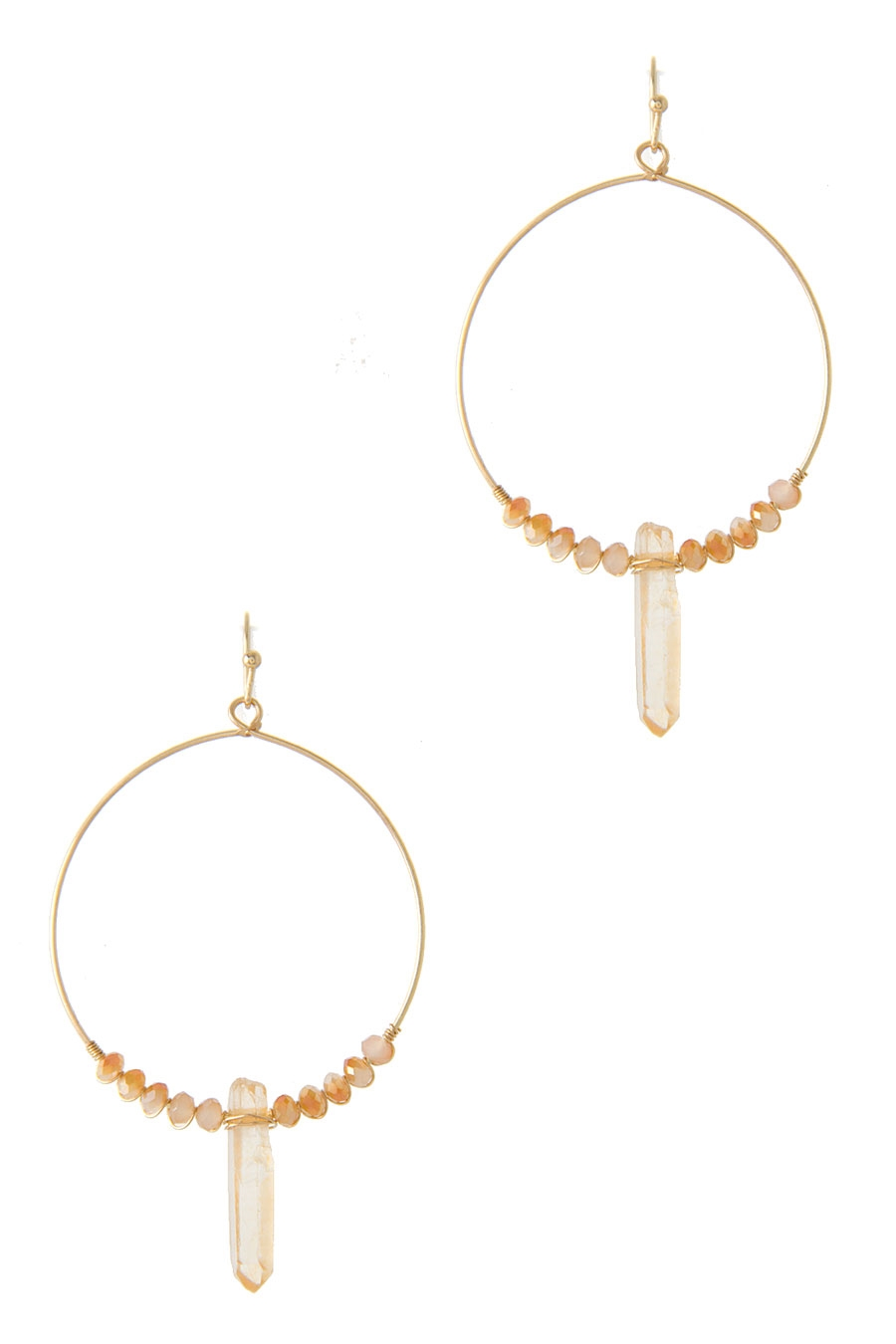 CRYSTAL QUARTZ DROP EARRING - orangeshine.com