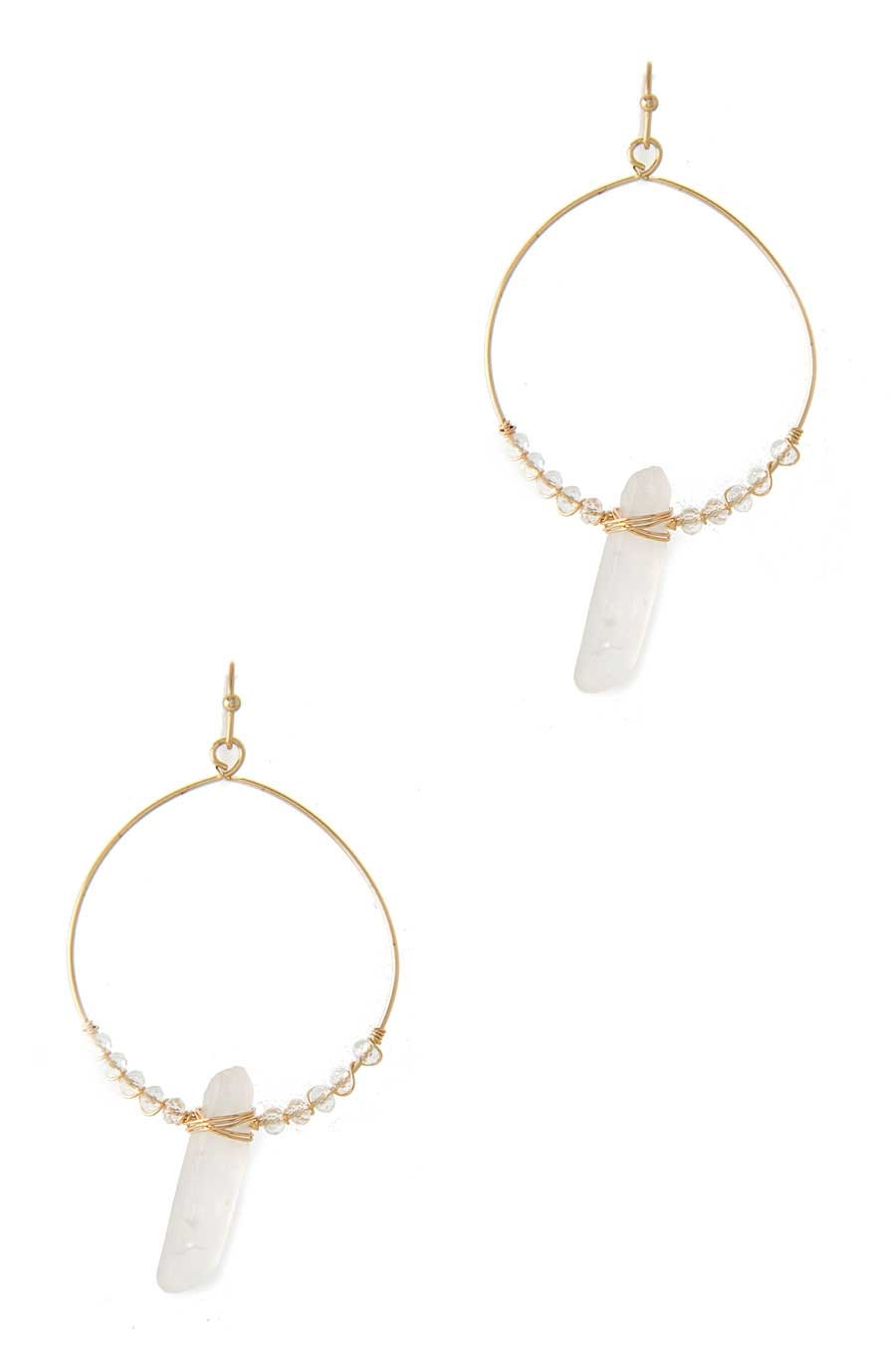 CRYSTAL QUARTZ EARRING - orangeshine.com