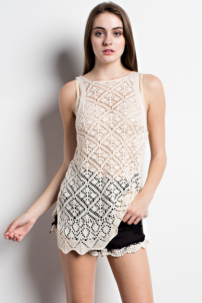 Crochet Layering Dress - orangeshine.com