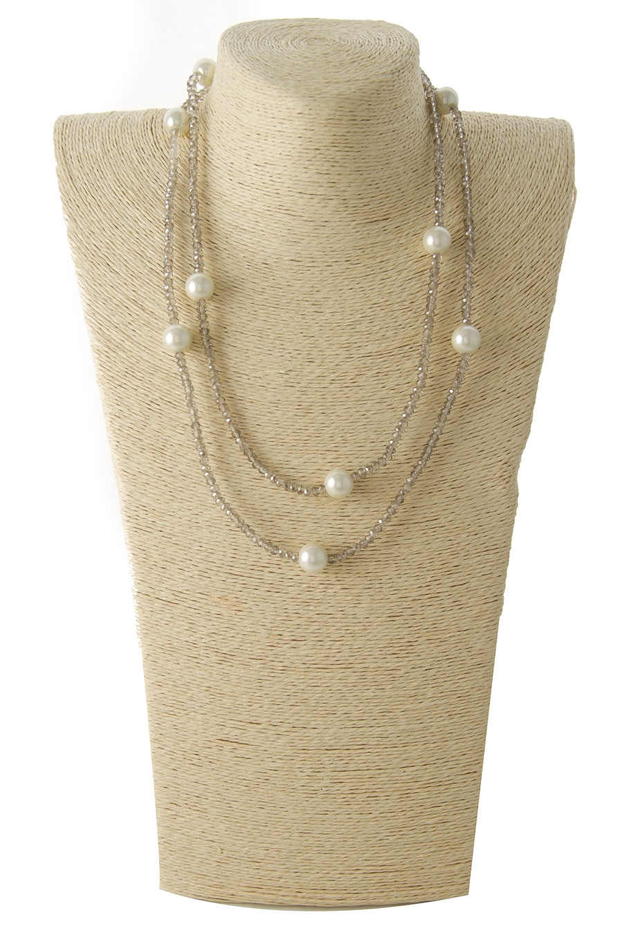 BEADED PEARL LONG NECKLACE - orangeshine.com