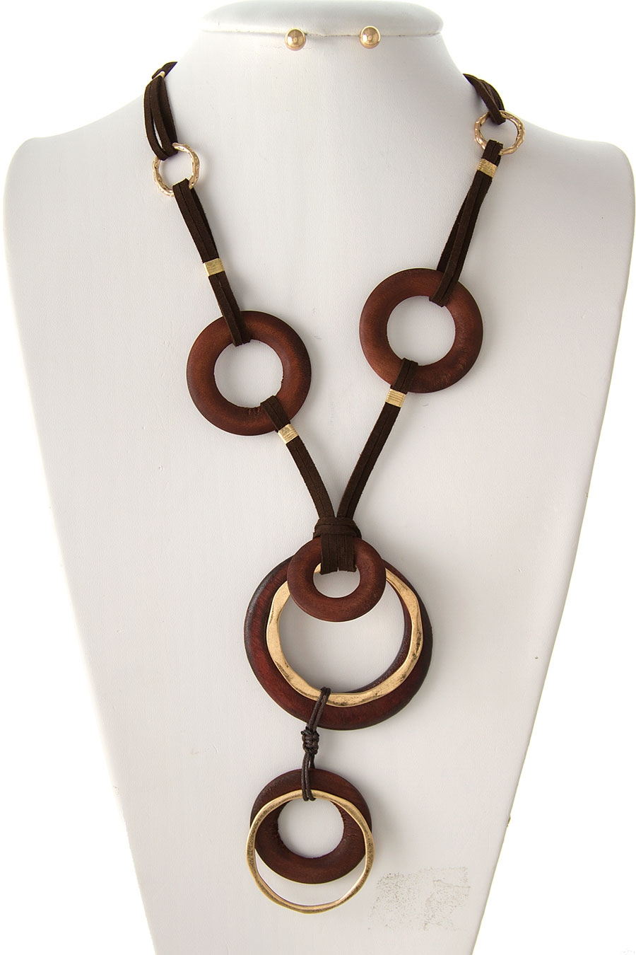 MULTI WOOD RING NECKLACE - orangeshine.com