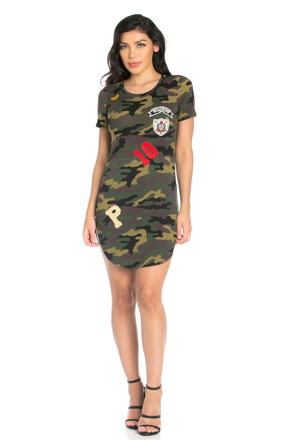 CAMO SPANDEX MILITARY DRESS - orangeshine.com