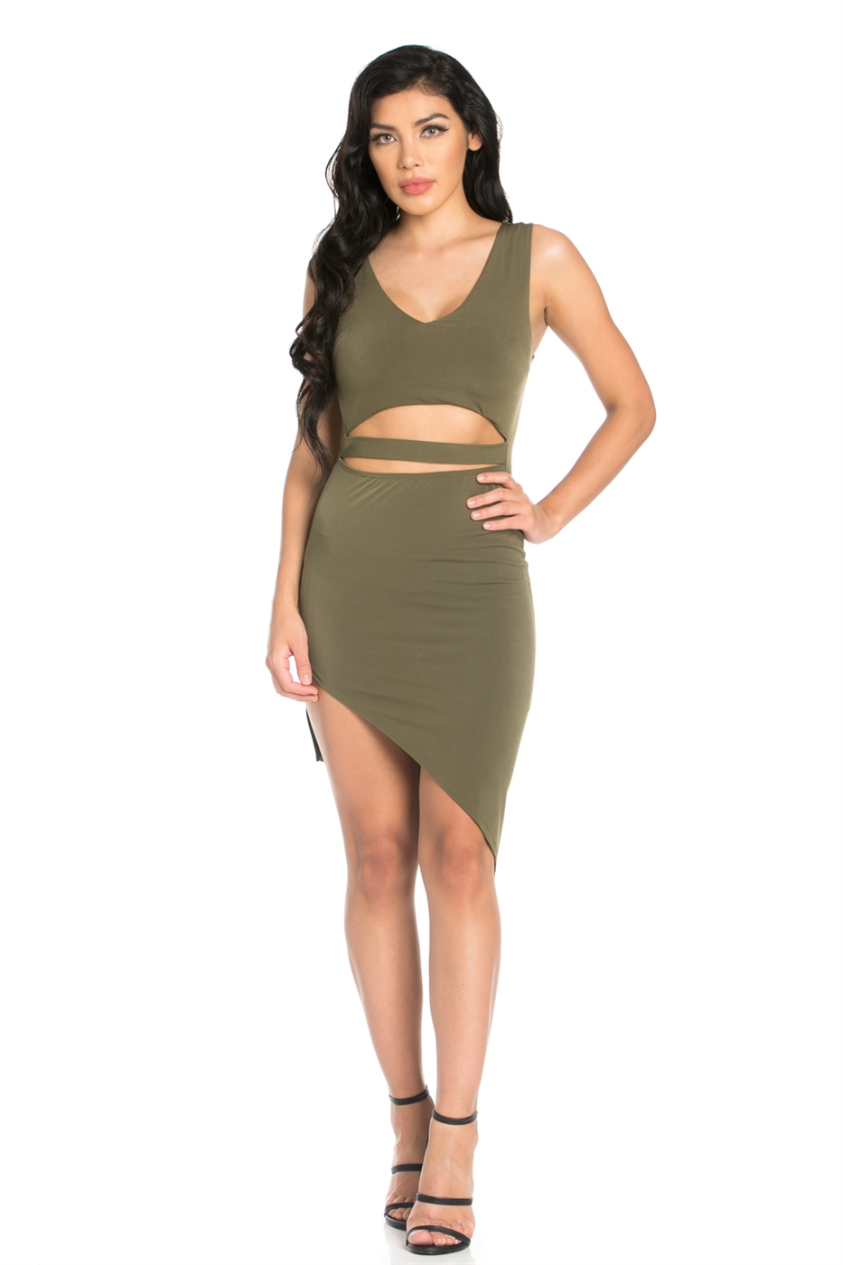FRONT CUT OUT DRESS - orangeshine.com