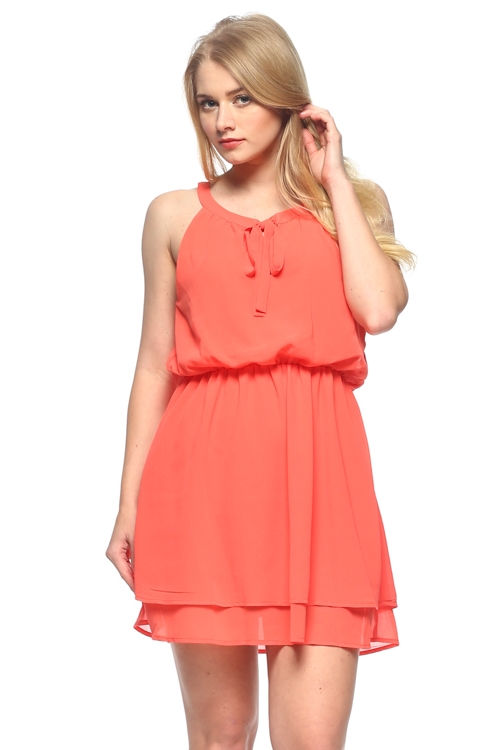 CHIFFON DRESS WITH LINING - orangeshine.com