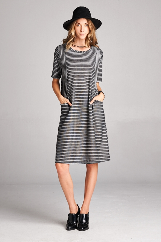 french terry side pocket dress - orangeshine.com