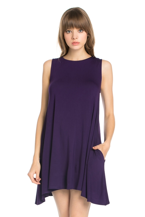 SLEEVELESS POCKET DRESS - orangeshine.com