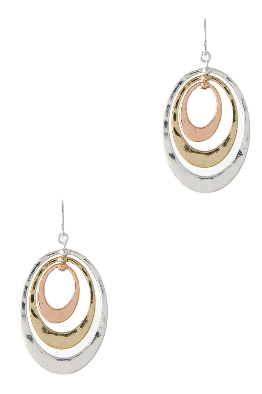 SHINY 3 OVAL DROP HOOK EARRING - orangeshine.com