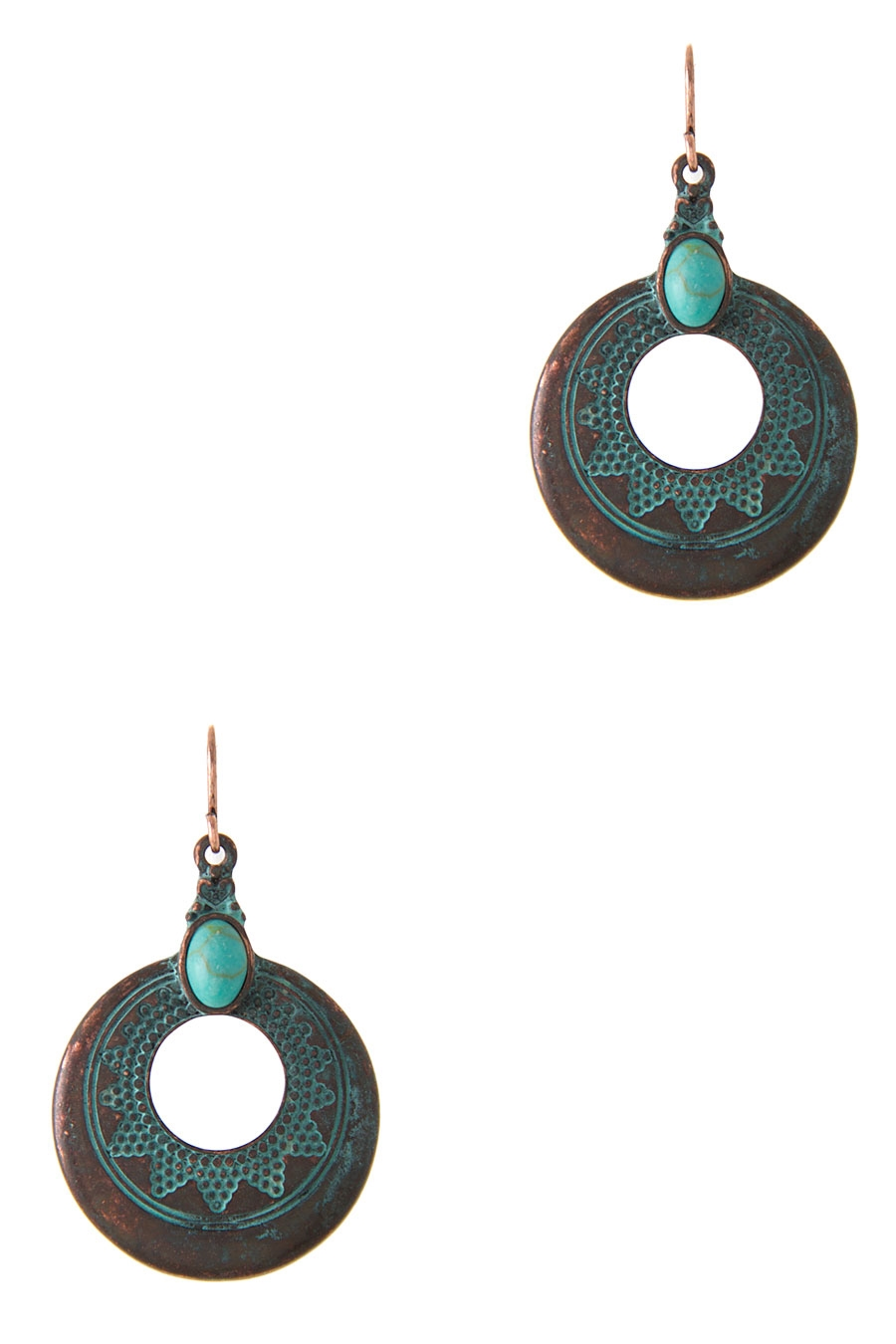 CIRCLE DOTTED EARRING - orangeshine.com