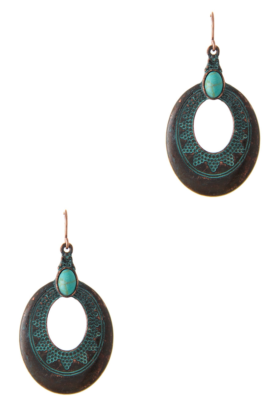 TEARDROP DOTTED EARRING - orangeshine.com