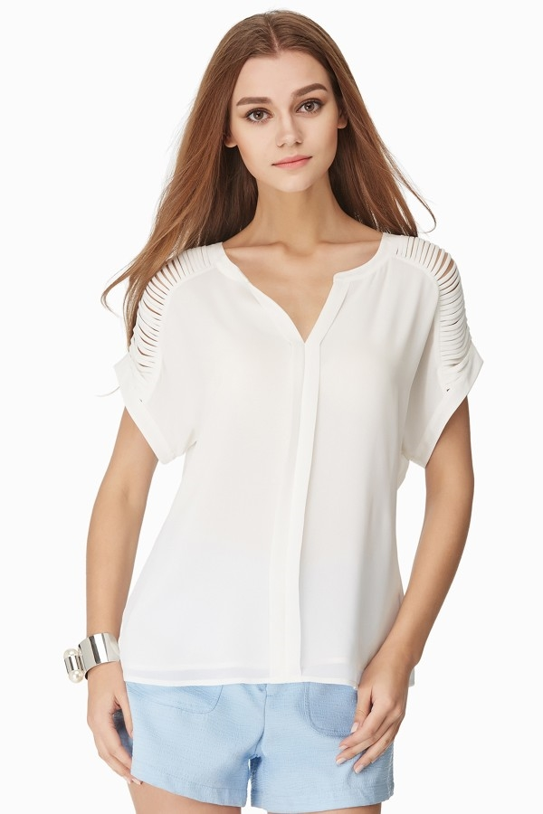 V--NECK BLOUSE - orangeshine.com