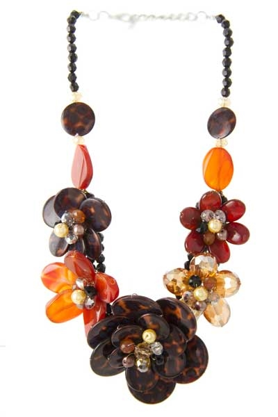 FLORAL NECKLACE SET - orangeshine.com