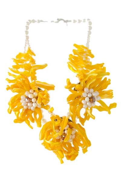 3 SHELL FLOWER NECKLACE SET - orangeshine.com