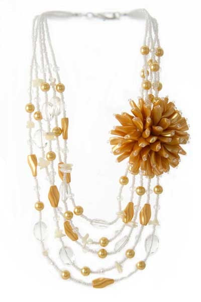 SHELL FLOWER DESIGN NECKLACE - orangeshine.com