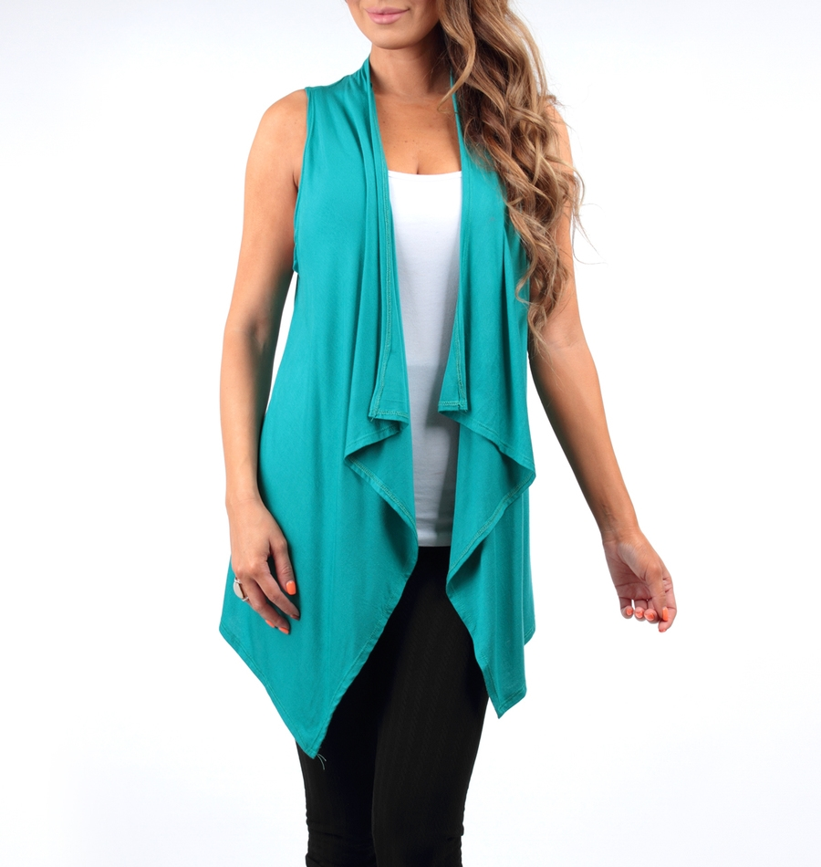 BLACK SLEEVELESS CARDIGAN - orangeshine.com
