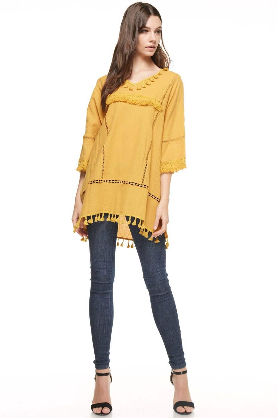 Fringe Loose Fit Mini Dress - orangeshine.com