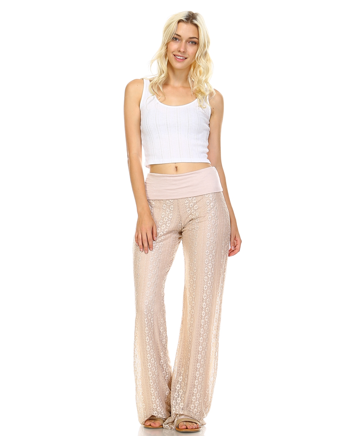 Folded Lace Pant - orangeshine.com