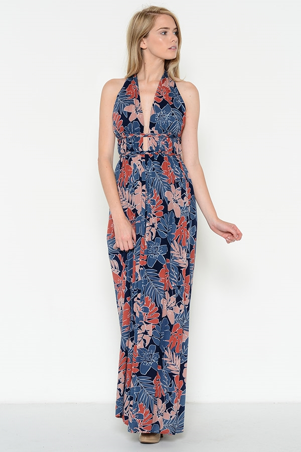 FOLIAGE MAXI DRESS - orangeshine.com