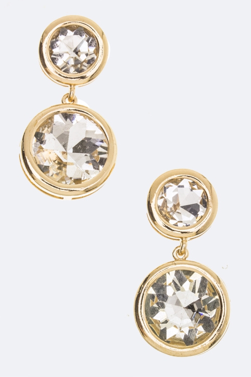 Round Crystal Earrings - orangeshine.com