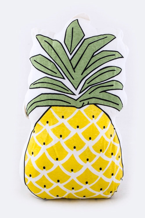 Pineapple Print Large Cushion - orangeshine.com